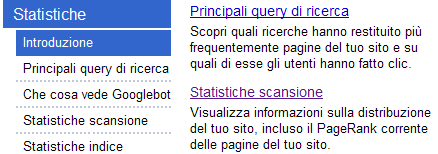 PageRank nel Google Webmaster Tools