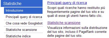 PageRank nel Google Webmaster Tools