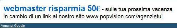50 euro di sconto in cambio di un link