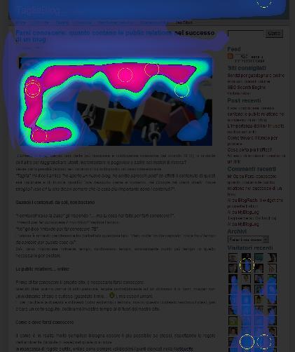 Il TagliaBlog visto dalla ViewFinder HeatMap di Feng-GUI
