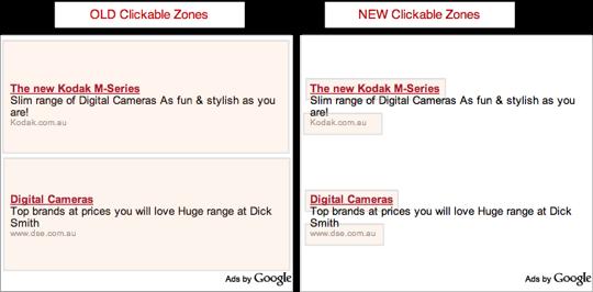 Google AdSense: si restringono le aree cliccabili…