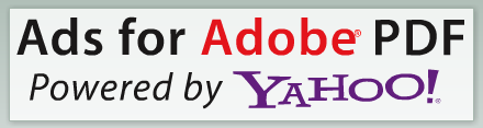 Ads for Adobe PDF powered by Yahoo!