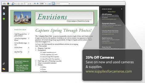 Esempio di annuncio pubblicitario nei PDF