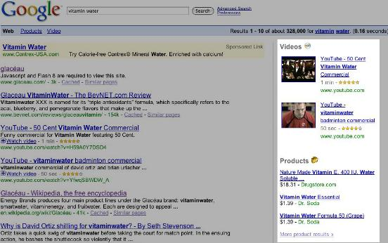 L'ennesimo test di Google Universal Search?