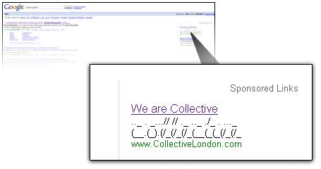 AdWords ASCII Art: Collective (www.CollectiveLondon.com)