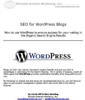 La prima pagina di SEO for WordPress Blogs