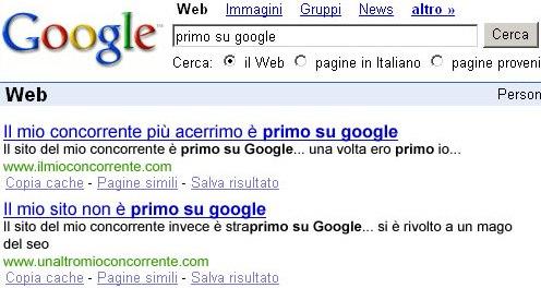 I SEO e Google (secondo mattkazz.netsons.org)