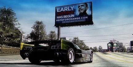 Un manifesto di Barack Obama in un videogame