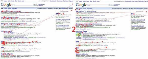 SERP di Google senza e con thumbnail: se è brutta, l'occhio la salta
