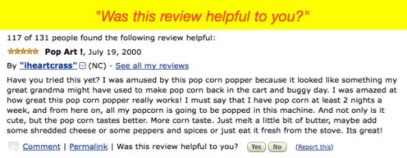 Questa recensione ti è stata utile?