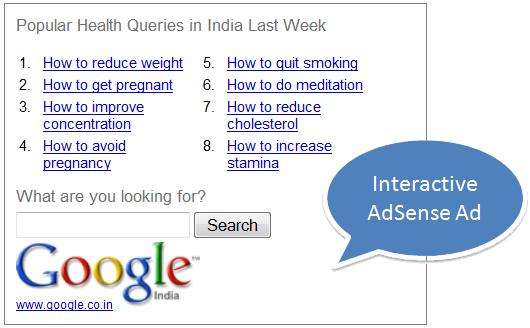 Esempio di un Interactive AdSense
