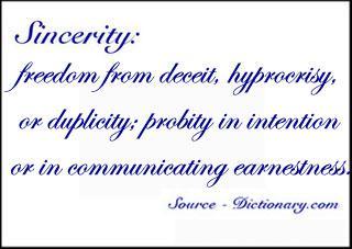 Definizione di sincerità