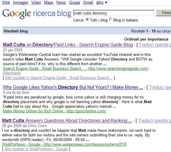 Post non presente in Blog Search...