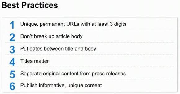 6 buone norme da considerare per Google News