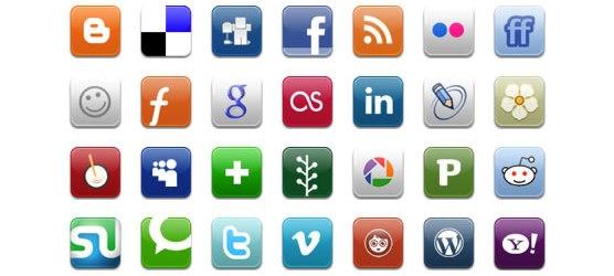 Icone e bottoni sociali
