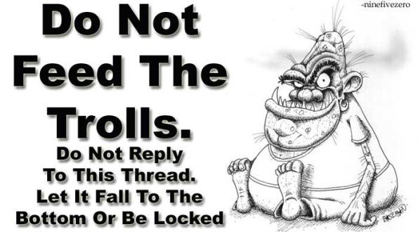 Non alimentare i troll