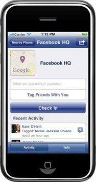 Facebook Places su iPhone