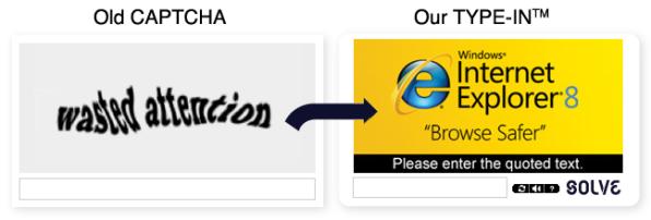 Un vecchio Captcha messo a confronto con il nuovo TYPE-INs