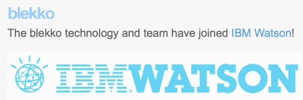Blekko IBM Watson