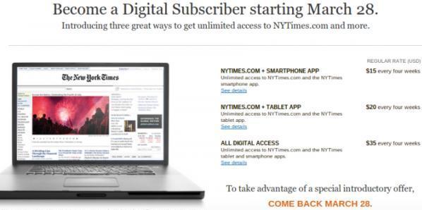 Il NYT e il suo paywall