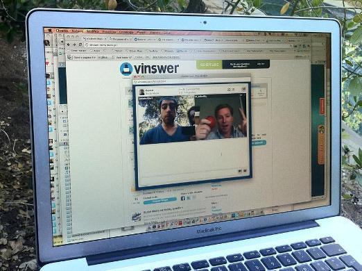 Video chiamata con Vinswer