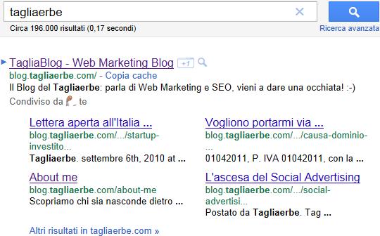 I nuovi Sitelink di Google, per la ricerca tagliaerbe