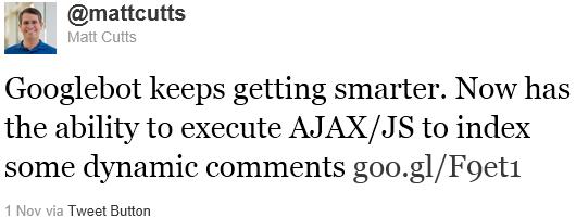 Google indicizza AJAX/JS