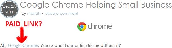Chrome compra link?