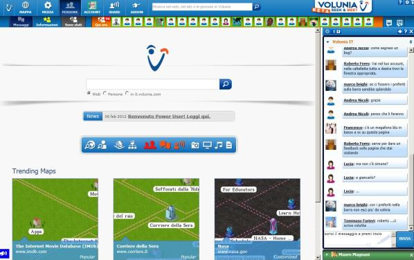La Home Page di Volunia