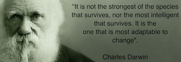 Non sopravvive il più forte o il più intelligente, ma quello che si adatta meglio.