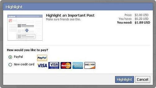 Facebook Highlight Post
