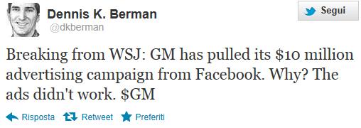 Il tweet di Dennis K. Berman del WSJ