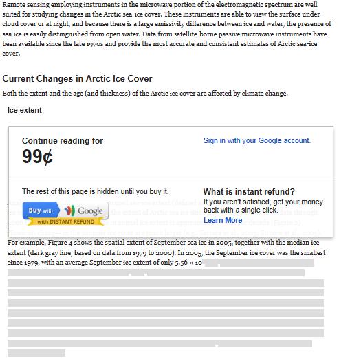 Esempio di Google Wallet per i Web Content