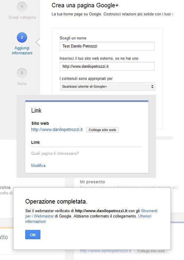 Creazione e verifica di una pagina su Google+