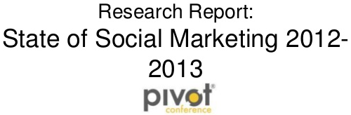 State of Social Marketing 2012-2013