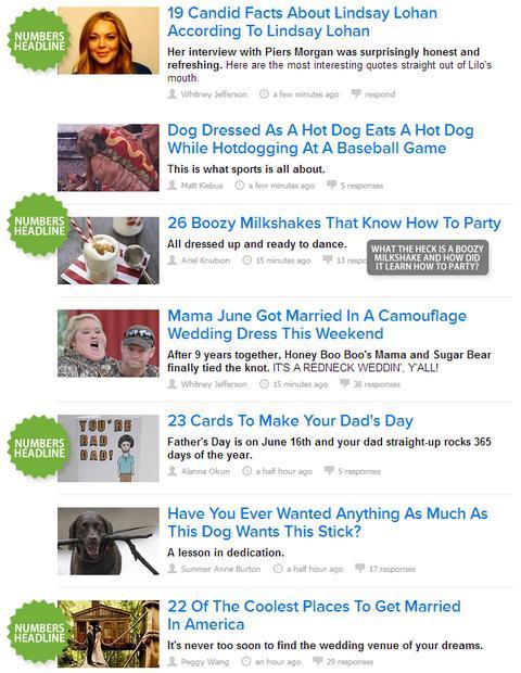 I titoli di BuzzFeed