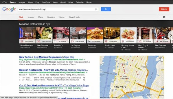 Knowledge Graph Carousel for Local Search