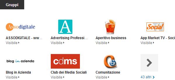 I gruppi su LinkedIn