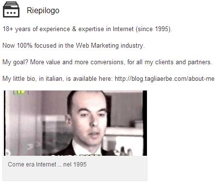 Il riepilogo su LinkedIn