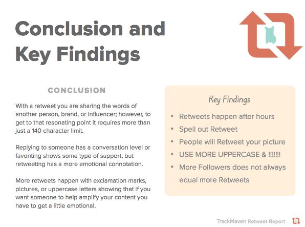 Conclusioni dello studio sui retweet