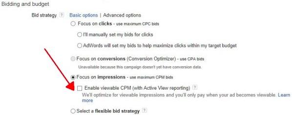 Active View sulla Rete Display di Google