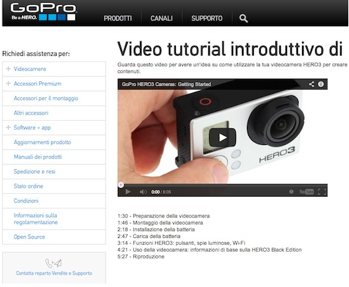 Un video tutorial di GoPro