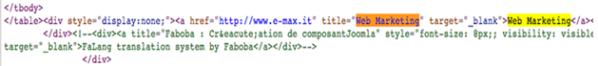 Link verso e-max.it da www.iti.gov.br