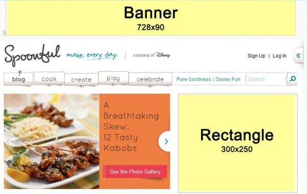 I tipici 2 banner presenti su un sito web
