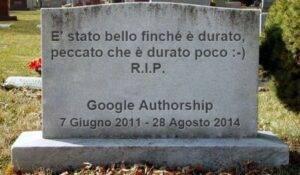 Google Authorship morta