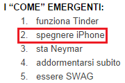 I come emergenti su Google nell'estate 2014