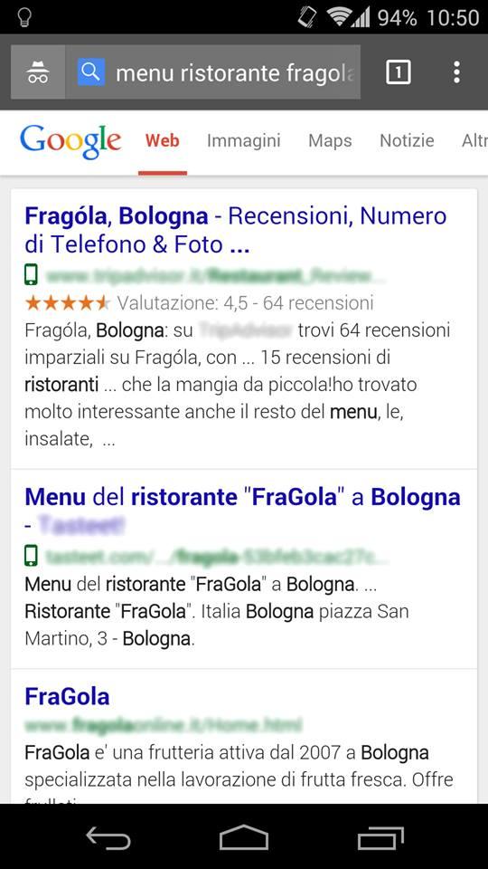 L'icona del telefonino nelle SERP di Google