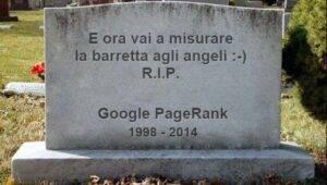 Il PageRank è morto