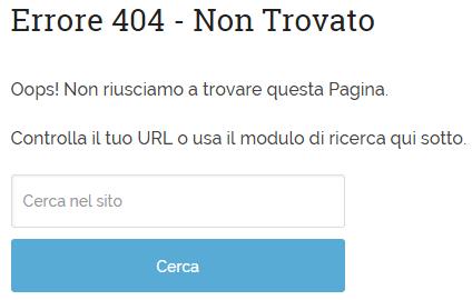 La pagina 404 del TagliaBlog