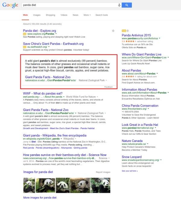 Panda Diet Query